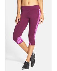 Hurley Purple Dri-fit Crop Leggings