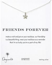 Dogeared | Metallic 'friends Forever' Necklace | Lyst