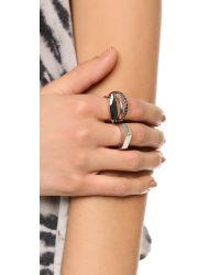 Iosselliani - Metallic Navette Ring Set - Black Multi - Lyst
