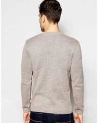 ASOS - Cable Knit Jumper In Brown for Men - Lyst