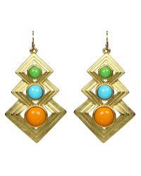Ben-Amun | Metallic Neon Gold Earrings | Lyst