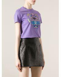 KENZO Pink Logo Tiger Print T-Shirt