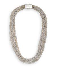 Saks Fifth Avenue | Metallic Multi-Chain Necklace/Silvertone | Lyst