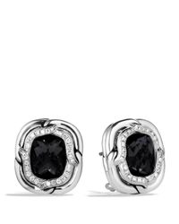 David Yurman - Labyrinth Earrings With Black Onyx And Diamonds - Lyst