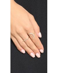 Gabriela Artigas | Metallic Pave Flat Axis Ring | Lyst