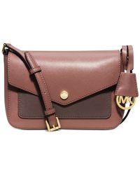 Michael Kors | Brown Michael Greenwich Small Crossbody | Lyst