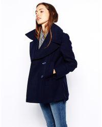 ASOS | Black Pea Coat | Lyst
