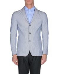 Lardini - Blue Blazer for Men - Lyst