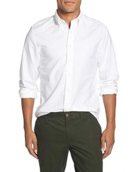 GANT | White 'perfect' Slim Fit Oxford Sport Shirt for Men | Lyst