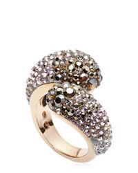Swarovski | Metallic Rose-Gold Tone Accented Ring Size 7 | Lyst