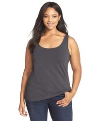 NIC+ZOE | Gray 'perfect' Scoop Neck Tank | Lyst