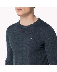 Tommy Hilfiger   Blue Cotton Blend Sweater for Men   Lyst