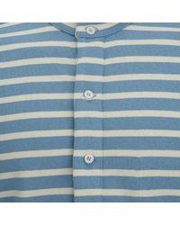 Nigel Cabourn White X Armor Lux Mens Grandad Tshirt for men