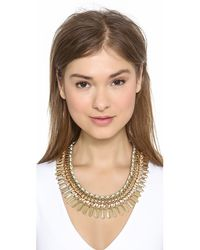 Adia Kibur Green Crystal Statement Necklace