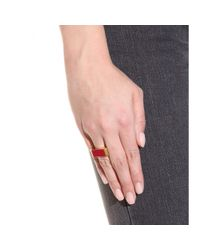 Saint Laurent | Red Enameled Ring | Lyst