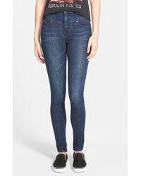 Volcom - Blue High Waist Skinny Jeans - Lyst