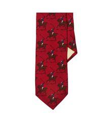 Polo Ralph Lauren | Red Wool Challis Tie for Men | Lyst