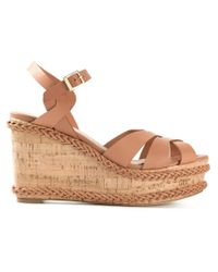Paloma Barceló Natural Braided Wedge Sandals