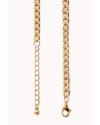 Forever 21 - Metallic Edgy Faux Leather Cord Necklace - Lyst