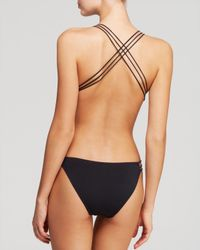 MILLY - Black Solid Swim Maillot Monokini One Piece Swimsuit - Lyst
