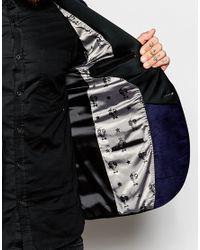 Noose And Monkey - Blue Velvet Blazer In Super Skinny Fit for Men - Lyst