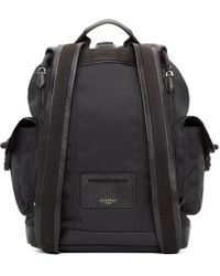 Givenchy Black Canvas Obsedia Backpack