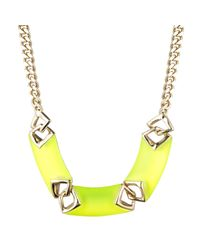 Alexis Bittar | Yellow Vert D'Eau Chevron Link Necklace | Lyst