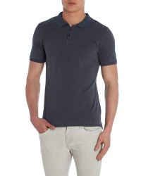 Calvin Klein | Blue Pedro Washed Short Sleeve Polo Shirt for Men | Lyst