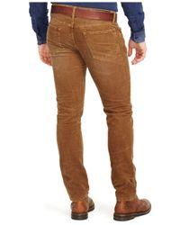 Polo Ralph Lauren | Brown Varick Slim-straight Corduroy Pants for Men | Lyst