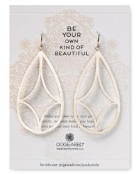 Dogeared - Metallic Be Your Own Kind Of Beautiful Arches Earrings - Lyst