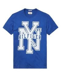 Tommy Hilfiger | Blue Federer Graphic Crew Neck Slim Fit T-shirt for Men | Lyst