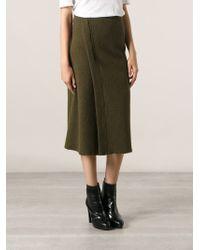 Isabel Marant Green Wrap Midi Skirt