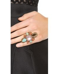 Erickson Beamon Brown Cosmic Code Ring Pink Multi