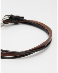 Seven London - Brown Hook Bracelet for Men - Lyst