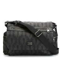 Dolce & Gabbana - Black Crowned Horn Print Shoulder Bag for Men - Lyst