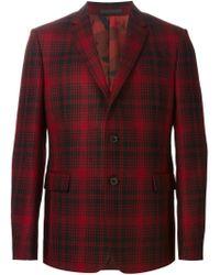 Valentino - Black Tartan Blazer for Men - Lyst
