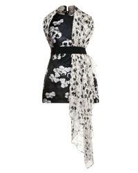 Giambattista Valli | Black Printed Woven and Jacquard Dress | Lyst