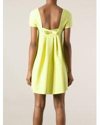 Valentino Green Bow Detail Dress