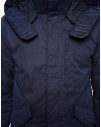 Pull&Bear - Blue Lightweight Parka Jacket for Men - Lyst