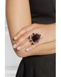 Oscar de la Renta   Purple Goldplated Crystal Ring   Lyst