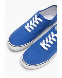 Forever 21 Blue Classic Lace-up Sneakers for men