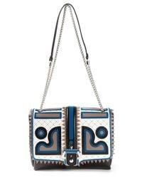 Paula Cademartori | Blue Carine Calf-Leather Shoulder Bag | Lyst