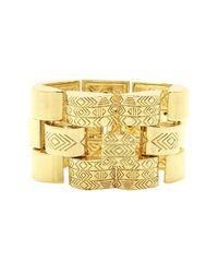 House of Harlow 1960 | Metallic Warrior Tiles Link Bracelet | Lyst