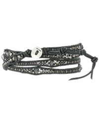 Chan Luu - Metallic 32' Silver Night/gunmetal Wrap Bracelet - Lyst