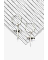 Nasty Gal | Metallic Luv Aj Cross Purposes Hoop Earrings | Lyst