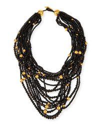 Viktoria Hayman | Black Multi-strand Beaded Statement Necklace for Men | Lyst