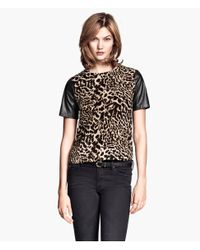 H&M - Multicolor Short-Sleeved Blouse - Lyst