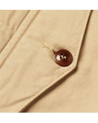Officine Generale | Natural New Fisherman Cotton-Twill Chinos for Men | Lyst