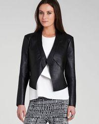 BCBGMAXAZRIA Black Jacket - Lloyd Bonded Faux Leather