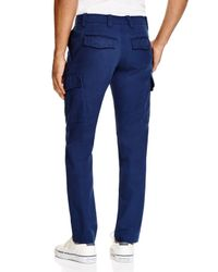 Lacoste | Blue Broken Twill Slim Fit Pants for Men | Lyst